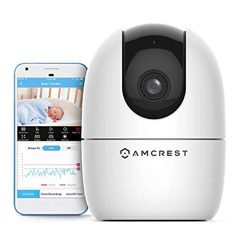 Amcrest 1080P FHD Baby Monitor Pet Camera, WiFi Camera, 2.4G Wireless Indoor Home Security Camera w/ Two-Way Audio, Motion Detection, Night Vision,...