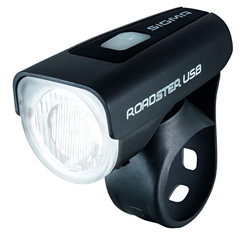 Sigma LED Frontleuchte Roadster USB, schwarz, 10 x 4 x 3 cm