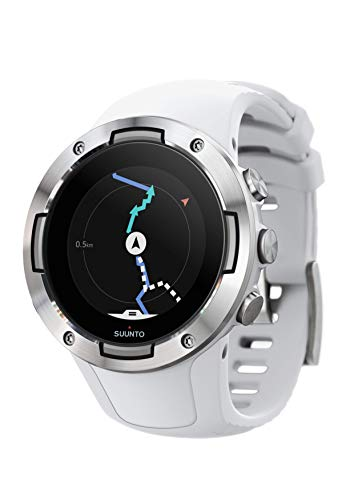 Suunto 5, Lightweight and Compact GPS Sports Watch with 24/7, Activity Tracking and Wrist-Based Heart Rate - White
