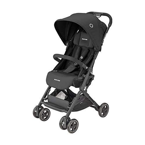 Maxi-Cosi Lara 2, leichter und kompakter Buggy, einfach zusammenklappbarer Kinderwagen, nutzbar ab ca. 6 Monate bis ca. 4 Jahre, max. 22 kg, Essential Black, schwarz