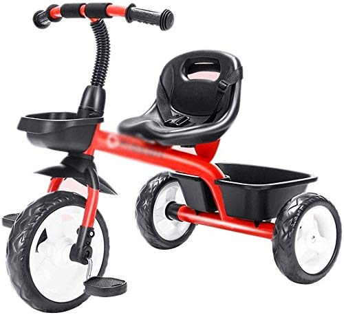 Xiaoyue Fahrräder Tricycle Indoor Praxis for Kinder Selbst Haushalt Kinder Trolley Tricycle (Farbe: Gelb, Größe: 74x50x60cm) lalay (Color : Red, Size : 74x50x60cm)