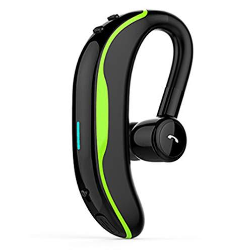 Wsaman Auriculares con cancelación de Ruido,Auriculares para Trabajo y Deportes Viaje,Auriculares Bluetooth 5.0 Deportivos, para Durante Negocios/Oficina/Conducción,Verde