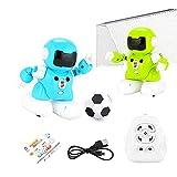 UTDKLPBXAQ 2PCS Niños Educación temprana Robot Juego de fútbol Jugar Robot Inteligente Control Remoto Robot de fútbol con luz fría Recargable...