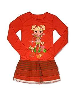 Lalaloopsy Holly Sleigh Ride Holiday Pajama Nightgown Red 4/5