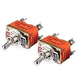 YSJJLRV Interruptor de Palanca 2pcs / Set Mini Interruptor de Palanca eléctrica AC 250V 15A Amps On/Off 2 Posición DPST 4 Los terminales de Tornillo cambian los interruptores 33 * 20 * 20mm