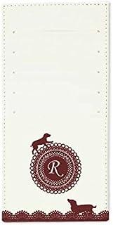 インナーカードケース 長財布用カードケース 10枚収納可能 カード入れ 収納 プレゼント ギフト 3022レースネーム ( R ) オフホワイト