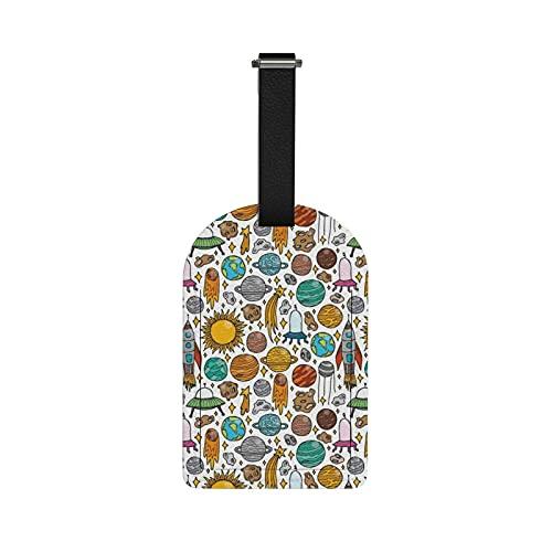 Redecor - Etichette per bagagli, disegnate a mano, per valigie, etichette identificative per valigie, etichette per valigie, valigie, 1 pezzo