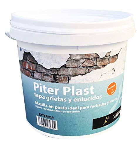 Masilla en Pasta Exterior - Piter plast al Uso. Sirve para tapar agujeros, grietas y fisuras (1 kg.)