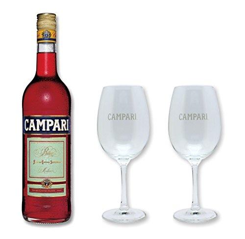 Campari Bitter 25% 0,7 Liter mit 2 original Gläsern