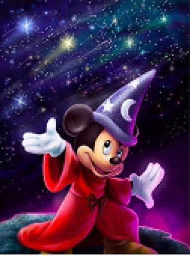 AItmp DIY 5D Diamante Pintura Patrones de Punto de Cruz Fantasía Mickey Mouse Bordado Mosaico Diamantes de imitación Decoración para el hogar Artesanías 40X50Cm