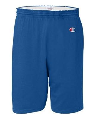 Champion Men's 6-Inch Royal Blue Cotton Jersey Shorts - Large