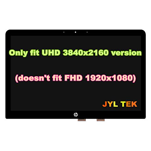 for HP 15.6' UHD 4K LCD Screen Display Touch Digitizer Bezel Assembly Spectre X360 15-AP 15-AP012DX