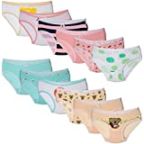 BOOPH Little Girls Underwear 6 Pack Soft Cotton...