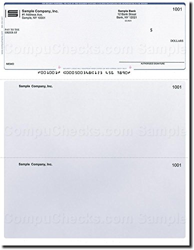 500 Computer Checks on Top - Printed - Compatible for QuickBooks - Blue Pinstripe