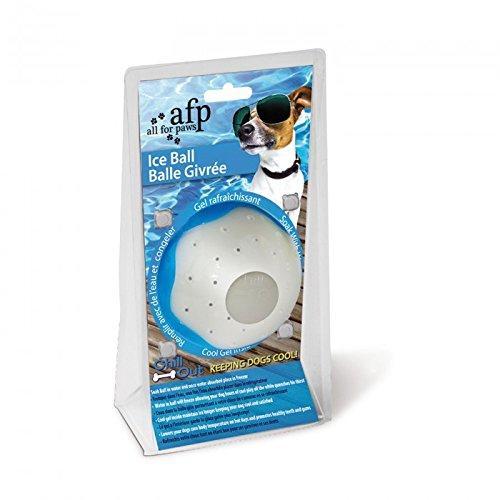Chill Out - Ice Ball - Eisball - cooles Hundespielzeug zum Einfrieren Wassspielzeug für Hunde Spielzeug für Hunde blau weiß