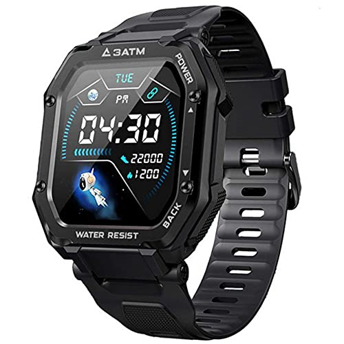 Smartwatch, Reloj Inteligente Hombre, 1,69' Relojes Inteligentes con Pulsómetro, Podómetro, Presión Sanguínea, 20 Modos Deportivo Pulsera Actividad Inteligente Impermeable para Android iOS (Negro)
