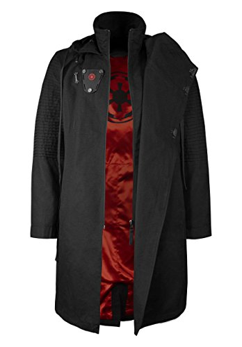 Musterbrand Star Wars Men Hooded Coat Sith Lord Black XS
