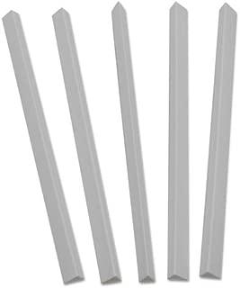 C-Line Slide N Grip Binding Bars, White, 11 x 1/2, 100/Box