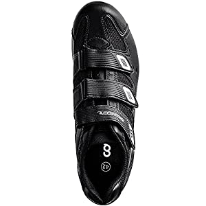 CyclingDeal Mountain Bicycle Bike Men's MTB Cycling Shoes Black Compatible with Shimano SPD and CrankBrothers Cleats   Size 46