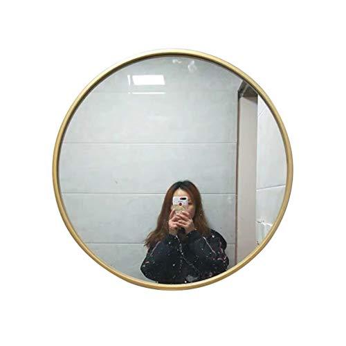 QDY-Wall-Mounted Vanity Mirrors Espejo de Pared Circular para baño con Marco de Metal Dorado de 11.8 a 31.5 Pulgadas para salón o Dormitorio, Espejo de Maquillaje para Pared