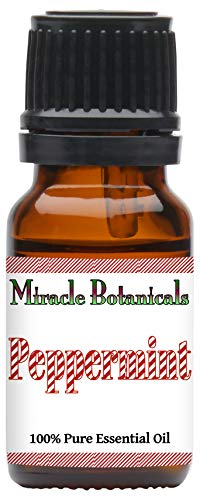 Miracle Botanicals USA Peppermint Essential Oil - 100% Pure Mentha Piperita - Therapeutic Grade - 10ml