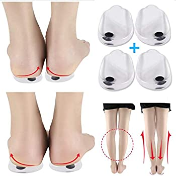 Orthopedic Insoles for Correcting O/X Type Leg Shoe Inserts 2 Pairs Built in Magnetic Heel Shoe Cushions for Foot Alignment Knock Knee Pain Bow Legs …