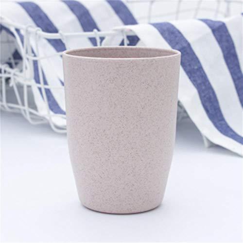 Unbekannt Nordic Style Kunststoff Teetassen Umweltfreundliche Weizenstroh Tasse Kaffee Tee Milch Getränk Tasse Zahnbürste Tasse für zu Hause Badezimmer, Pink