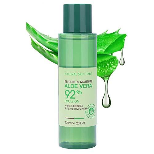 Gel de aloe vera, crema hidratante para el cuidado de la piel sin lavado Gel de aloe vera cuidado personal del cuerpo para el cabello y la piel ideal para pieles secas y quemadas por el sol (120 ml)
