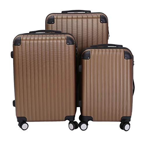 Suitcase Set Luggage Sets of 3 with 4 Spinner Wheels ABS Hard Shell Lightweight TSA Lock Suitcase X Large Large Medium