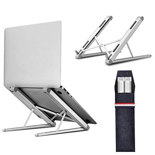 """Tensun Soporte Portátil, Ventilado Soporte Ordenador Portátil Plegable, Ergonomic 6 Ángulos Adjustable Laptop Stand Soporte Mesa para Macbook DELL XPS, HP, PC y Otros 10-15.6"""" Portatiles"""