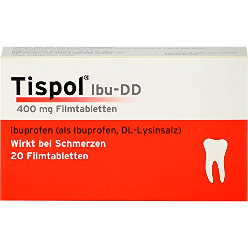 Tispol Ibu-DD Filmtabletten bei Schmerzen, 20 St. Tabletten