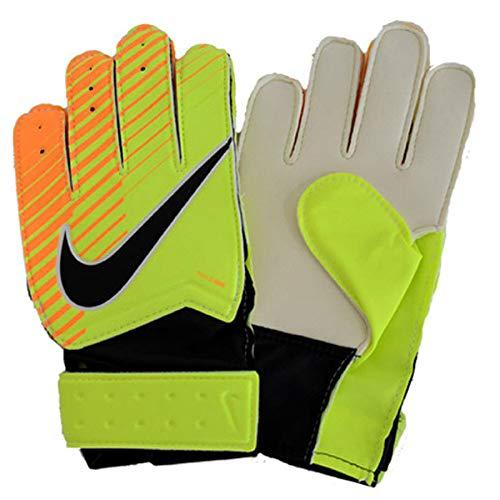 Nike Kinder Junior Match Goalkeeper Handschuhe, Volt/Laser Orange/Black, 4