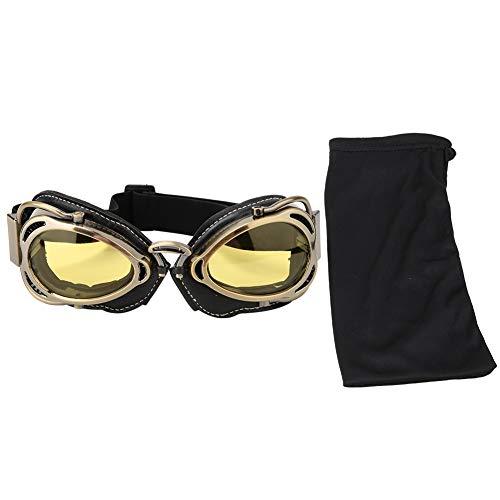 Tbest Gafas de Moto Retro, Gafas Protectoras Seguridad al Aire Libre Protección...