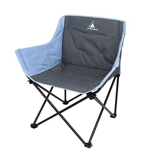 Chaise de Camping Jace Arona XXL 10T - Chaise Pliante jusqu'à 130 kg - avec Porte-gobelet et Poche latérale
