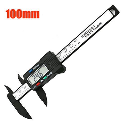 Medidor digital con impresionante medición de precisión para mediciones de interior, exterior, de profundidad, con pantalla LCD, medidor profesional, 100mm
