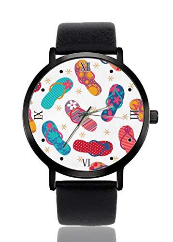 PALFREY Coole Flip Flops Hausschuhe Armbanduhren Business Casual Sport Quarzuhr für Damen Herren Wasserdicht Unisex Uhr