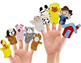 RIY 10Pcs Story Time Finger Puppets - Old...