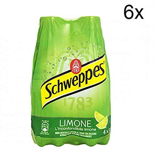 6X Schweppes Limone Lemon Lemonade PET ( 4 x 0,25Lt ) Refreshing analcoholic Drink
