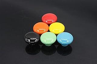 Belle vie* Série 7 boutons bouton meubles d'ébénisterie Set doorknob Meubles en céramique Poignée avec vis à billes 7 enfa...