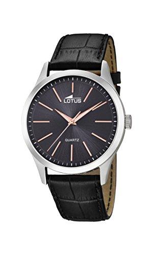 Lotus Herren Analoger Quarz Uhr mit Echtes Leder Armband 15961/8
