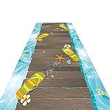 alfombra de Pasillo Alfombra de la Alfombra Casual de la Alfombra, alfombra de pasillo de 1 m / 2m / 3m / 4m / 5 m / 3m / 4m / 5m / 6m Largo Pasillo Alfombra, patrón de Huella de Cubierta de Verano