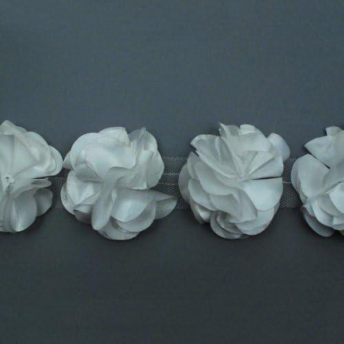 Mauve EXPO IR8087MV-10 10 Yards of Rosette /& Embro Flower Trim