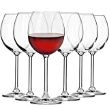 Krosno Petite Verre à Vin Rouge | Lot de 6 | 350 ML | Collection Venezia | Parfait la Maison, Les Restaurants Les Fêtes | Lave-Vaisselle et Micro-Ondes