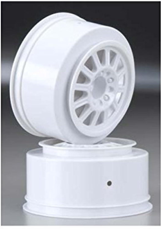 JConcepts 3322 Rulux Slash Rear Wheel White (2) by J Concepts