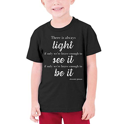 XCNGG Niños Tops Camisetas Amanda Gorman Boys T-Shirts Novelty Youth Tees with Cool Designs