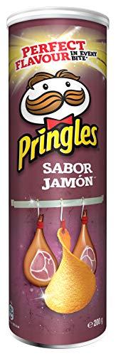 Pringles Patatas Fritas, Jamón, 200g