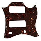 Custom Guitar Pickguard For US Gibson SG P90 Full Face Without Pickup Mounting Holes Style (4 Ply Brown Tortoise)