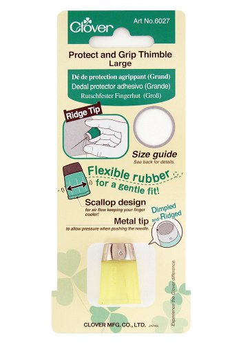 CLOVER Protect & Grip Thimble, Large, Yellow
