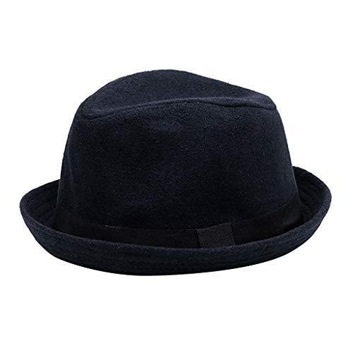 Yue668 Haut Chaud pour Hommes, Casquette Britannique, Casquette Jazz,Couleur Unie Hiver Plus Chapeau Bonnet Britannique Extérieur Chapeau Bonnet Chaud