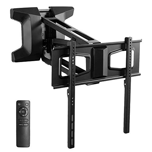 VIVO Steel Electric TV Wall Mount for 37 to 70 inch LCD LED Plasma Screen, Above Fireplace Height Adjustable Motorized TV Pull Down Mantel Bracket, MOUNT-E-MM070